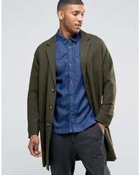 Single breasted overcoat khaki medium 776346