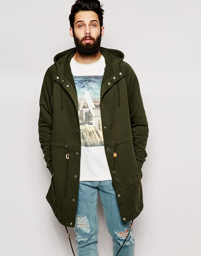 Asos Brand Oversized Parka Jacket In Jersey | Where to buy & how ...