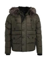 Superdry Chinook Winter Jacket Dark Khaki