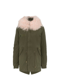 Mr & Mrs Italy London Mongolian Lamb Fur Collar Parka