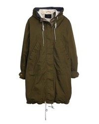 Parka military green medium 4000265