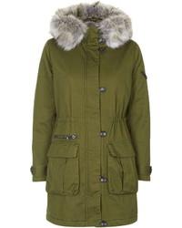 Topshop Premium Faux Fur Lined Parka