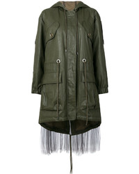 Moschino Tulle Layer Nylon Parka