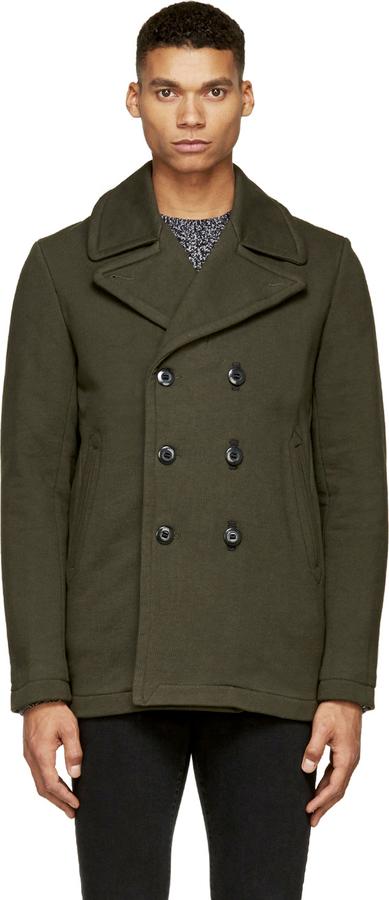 Green pea coat uk