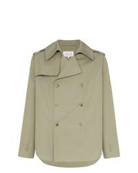 Maison Margiela Short Length Double Breasted Cotton Coat