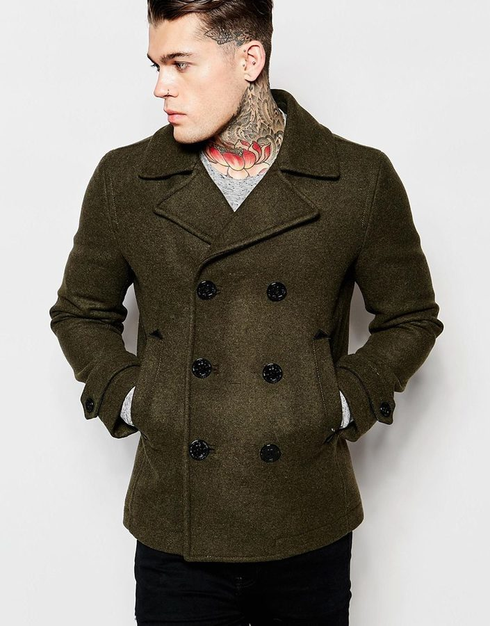 Diesel Wool Peacoat W Sami Double Breasted | Where to buy & how to ...
