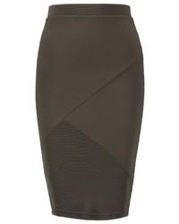 Miss Selfridge Pencil Skirt Dark Green