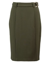 mint&berry Pencil Skirt Forest Night