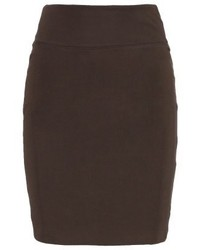 Kaffe Penny Pencil Skirt Burnt Green