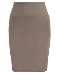 Kaffe Penny Pencil Skirt Light Khaki