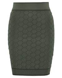 YAS Shelly Mini Skirt Khaki