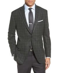 Peter Millar Flynn Classic Fit Plaid Wool Cashmere Sport Coat