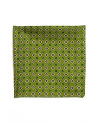 BOSS HUGO BOSS Silk Pocket Square Green One Size