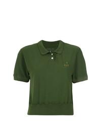 À La Garçonne Cropped Polo Shirt