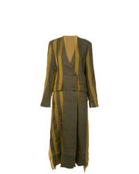 Uma Wang Stripe Double Breasted Coat