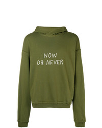 Haider Ackermann Now Or Never Print Hoodie