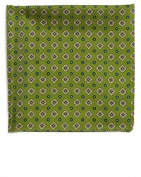 Olive Print Pocket Square