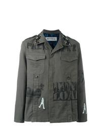 Etro Printed Military Shirt Jacket Green