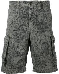 Olive Print Shorts