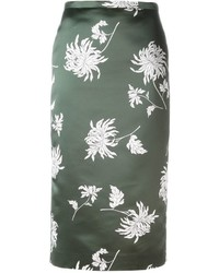 Rochas Floral Print Pencil Skirt