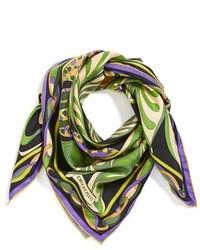 Olive Print Silk Scarf