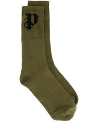 Palm Angels Initial Intarsia Socks