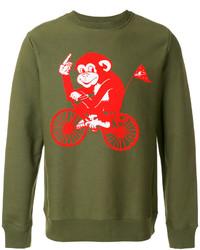 Olive Print Sweatshirt