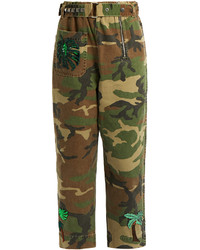Marc Jacobs Patch Appliqu Camouflage Print Trousers
