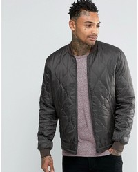 Bomber jacket in quilted ripstop in khaki medium 748156