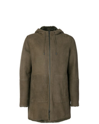Olive Shearling Coat