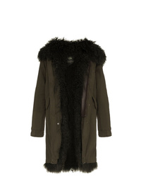 Mr & Mrs Italy Shearling Lined Hooded Cotton Parka