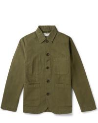 Universal Works Baker Gart Dyed Cotton Canvas Chore Jacket
