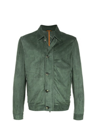 Isaia Fitted Trucker Jacket