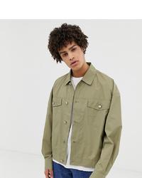 Noak Lightweight Techy Overshirt In Khaki