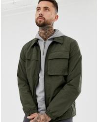 ASOS DESIGN Utility Jacket In Khaki