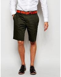 Asos Brand Skinny Smart Shorts In Cotton Sateen