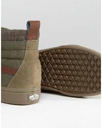 vans sk8-hi mte dx sneakers in brown