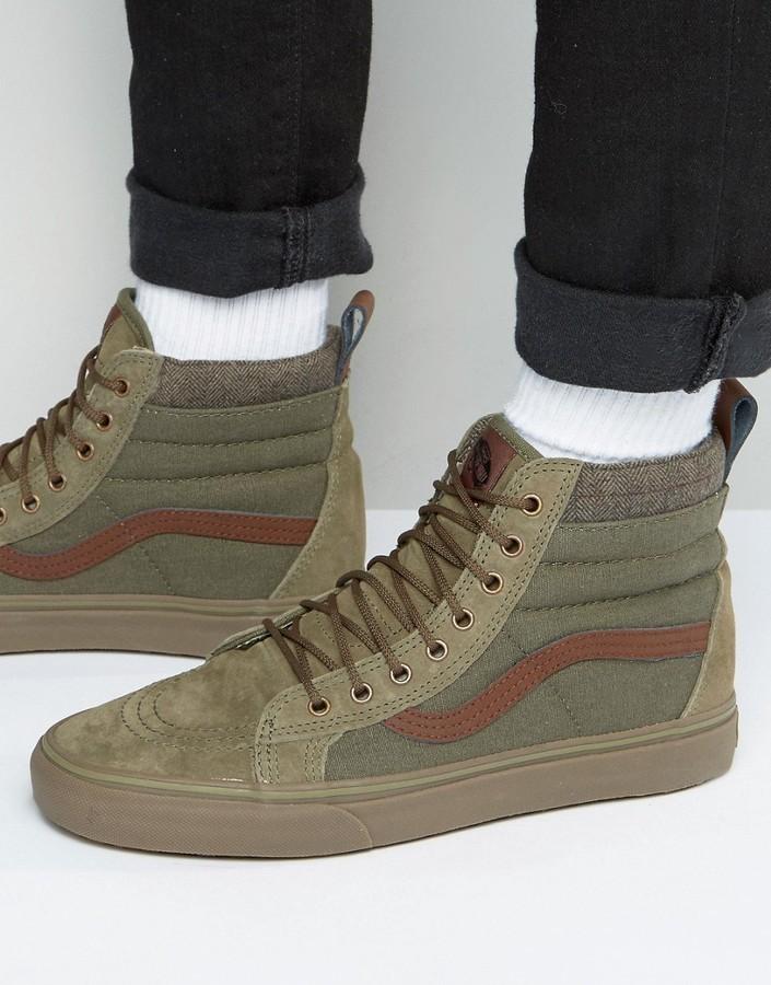 vans sk8-hi mte dx olive shoes