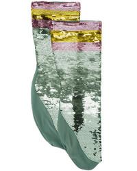 Gucci Sequin Embellished Socks