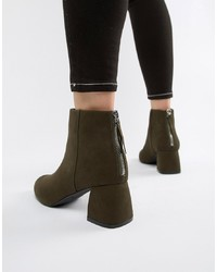 Pieces Faux Suede Sculpted Heel Boot