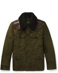 Olive Suede Field Jacket