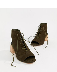 ASOS DESIGN Rascal Wide Fit Lace Up Shoe Boots
