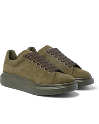 Alexander McQueen Exaggerated Sole Suede Sneakers
