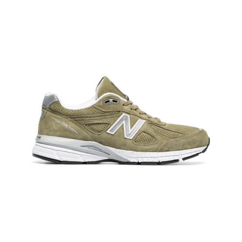 the best attitude d284d c93a2 £199, New Balance Green 990v4 Suede Low Top Sneakers