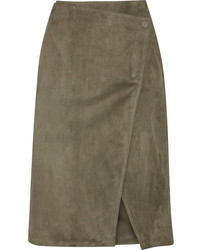 Suede wrap skirt medium 239098