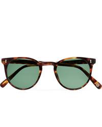Cubitts Herbrand Round Frame Tortoiseshell Acetate Sunglasses