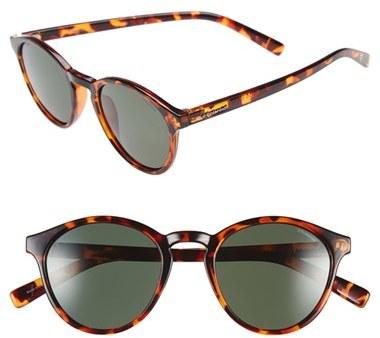 77d3230c6df0 Polaroid Eyewear 1013s 50mm Polarized Retro Sunglasses Havana Green ...