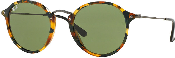 d0f0d410f5 Ray-Ban Round Acetate Sunglasses Green Tortoise