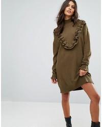 Vero Moda Sweater Dress With Ruffle Detail