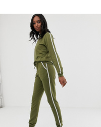 Asos Tall Asos Design Tall Tracksuit Cute Sweat Basic Jogger With Tie With Contrast Binding